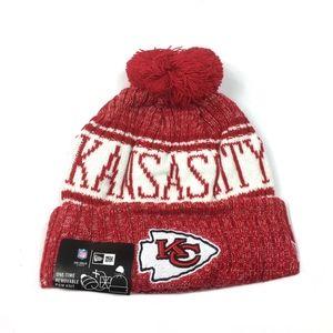 New Era Kansas City Chiefs Knit Beanie Hat Red